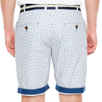 Society Of Threads Mens Mid Rise Stretch Chino Short