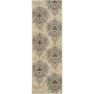 Safavieh Courtyard Collection Dedrick Medallion Indoor/Outdoor Runner Rug