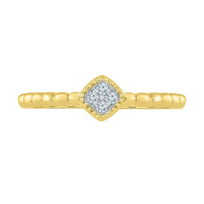 Promise My Love Womens Diamond Accent White Diamond 10K Gold Promise Ring