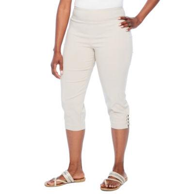 Worthington Slim Fit Jersey Pull-On Pants-Petite