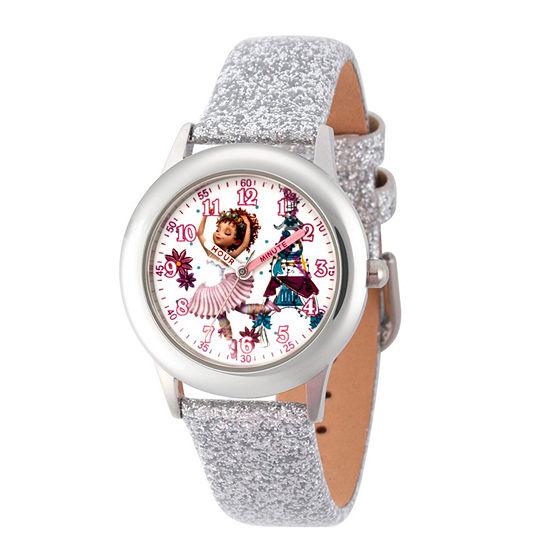 Disney Fancy Nancy Fancy Nancy Girls Leather Strap Watch-Wds000599