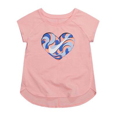 Nike 344 Su18 Tops Nike Short Sleeve Round Neck T-Shirt-Toddler Girls