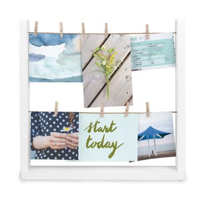 Umbra Hangit Desktop Photo Display White 9-Opening Wall Frame