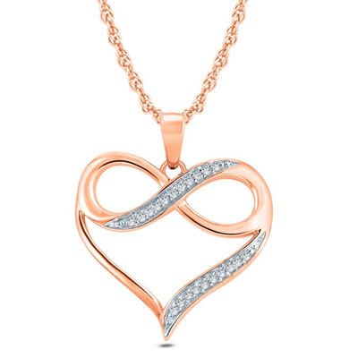 Womens Diamond Accent 10K Gold Pendant Necklace