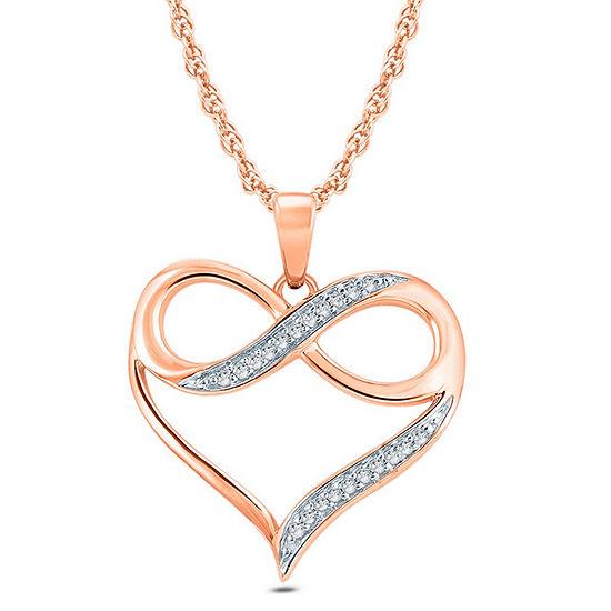Womens Diamond Accent 10K Gold Pendant Necklace