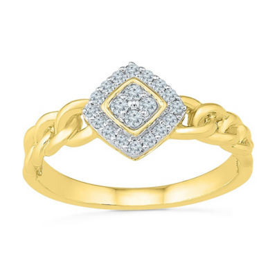 Promise My Love Womens 1/6 CT. T.W. White Diamond 10K Gold Promise Ring