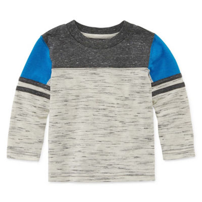 Okie Dokie Long Sleeve Football T-Shirt-Baby Boy NB-24M