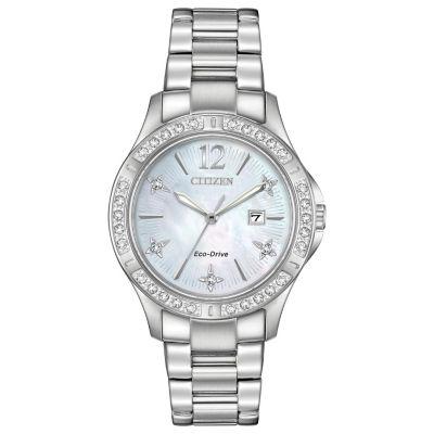 Citizen Womens Silver Tone Bracelet Watch-Ew2510-50d