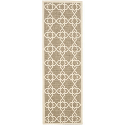 Safavieh Courtyard Collection Nicol Geometric Indoor/Outdoor Runner Rug