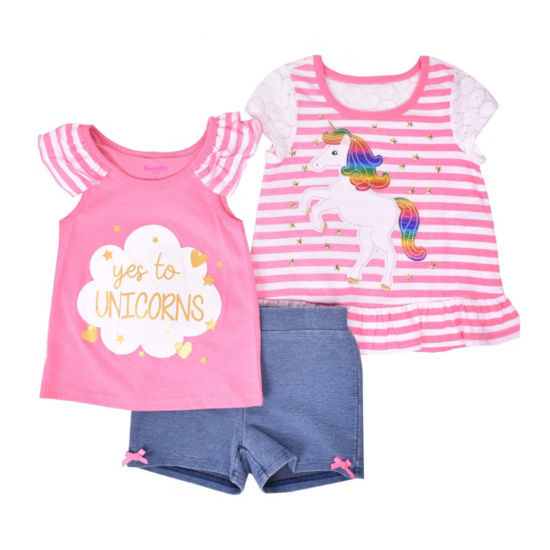 Nanette Baby 3-pc. Short Set Toddler Girls