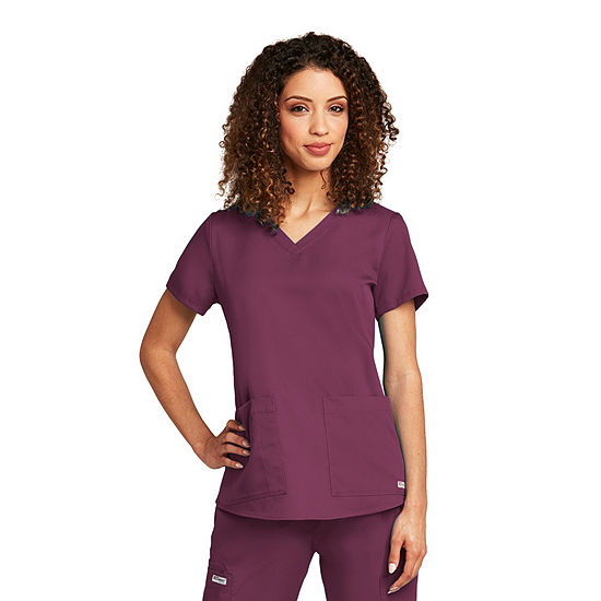 Barco® Grey's Anatomy™ Women's 71166 Two Pocket V-Neck Scrub Top with Shirring Back - Plus