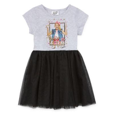 JoJo Siwa Short Sleeve Tutu Dress - Preschool Girls