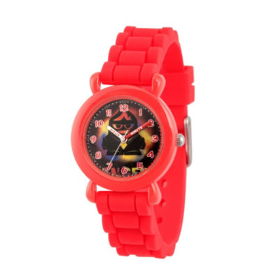 Disney Inside Out Boys Red Strap Watch-Wds000601