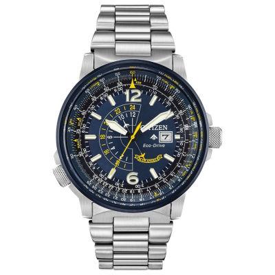 Citizen Mens Silver Tone Bracelet Watch-Bj7006-56l
