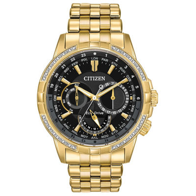 Citizen Mens Gold Tone Bracelet Watch-Bu2082-56e