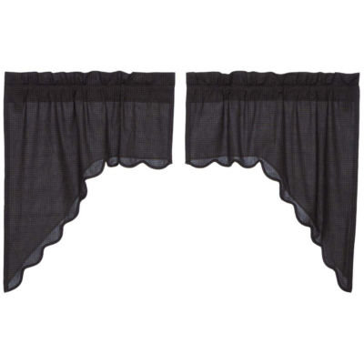 Classic Country Window Arlington Scalloped Swag Pair