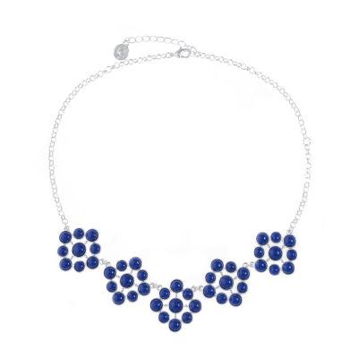 Liz Claiborne Womens Blue Round Collar Necklace