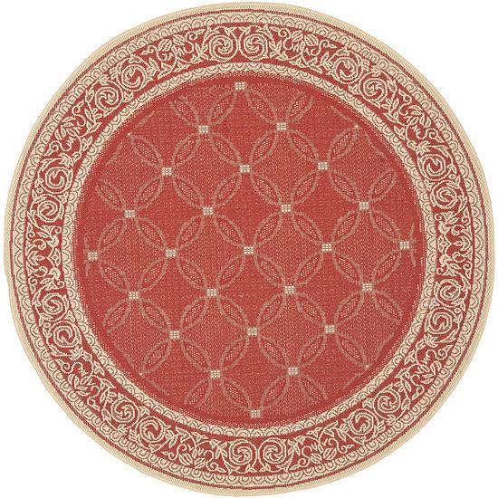 Safavieh Frona Oriental Round Indoor/Outdoor Rugs