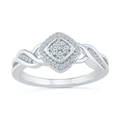 Promise My Love Womens 1/6 CT. T.W. White Diamond Sterling Silver Promise Ring