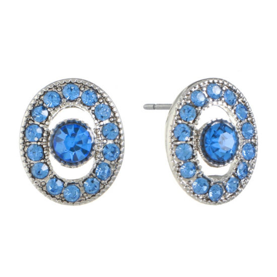 Monet Jewelry Blue 15.2mm Stud Earrings