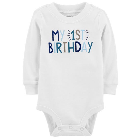 Carter's Birthday Long Sleeve Round Neck T-Shirt-Baby Boys