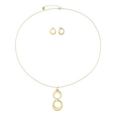Liz Claiborne Womens Gold Tone 2-pc. Jewelry Set