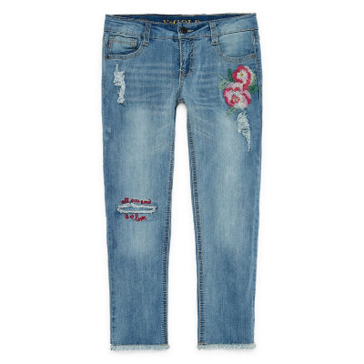 VGold Embroidery Capri Big Kid Girls