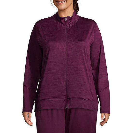 St. John's Bay Active Texture Mix Jacket - Plus