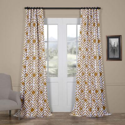 Exclusive Fabrics & Furnishing Palisade Blackout Rod-Pocket/Back-Tab Curtain Panel