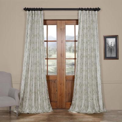 Exclusive Fabrics & Furnishing Tabriz Faux Silk Taffeta Blackout Rod-Pocket/Back-Tab Curtain Panel
