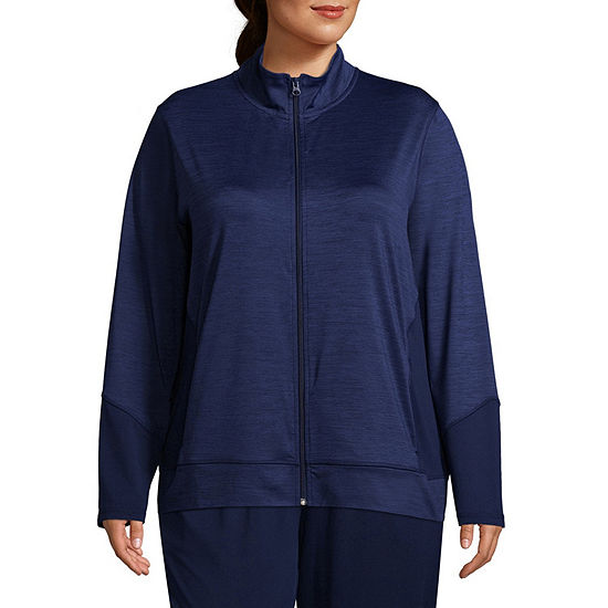 938133f9ed3f St. John s Bay Active Texture Mix Jacket - Plus - JCPenney