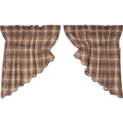 Rustic & Lodge Window Dawson Star Scalloped Prairie Swag Pair
