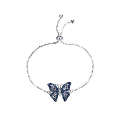 Sparkle Allure Crystal Kingdom Critter Clear Silver Tone Bolo Bracelet