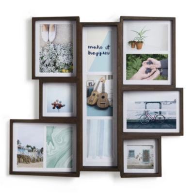 Umbra Edge Multi Walnut Aged Walnut 11-Opening Wall Frame