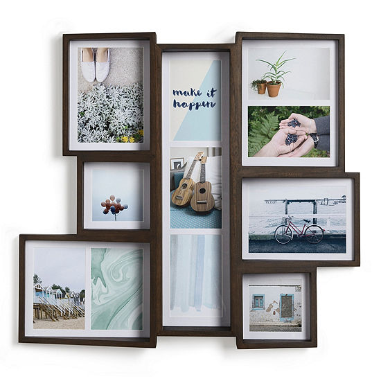 Umbra Edge Multi Walnut Aged Walnut 11-Opening Collage Frame