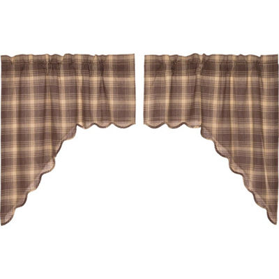 Rustic & Lodge Window Dawson Star Scalloped Swag Pair