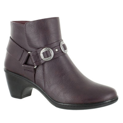 Easy Street Womens Bailey Bootie Block Heel Zip