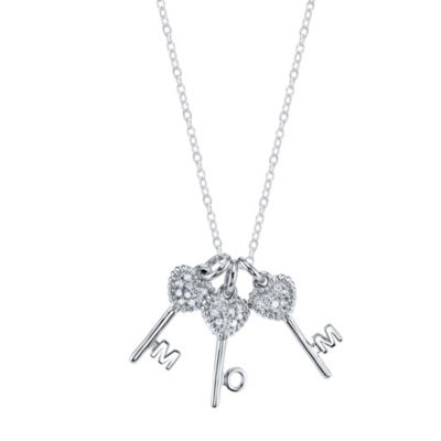 Sparkle allure womens clear crystal silver over brass pendant sparkle allure womens clear crystal pure silver over brass keys pendant necklace aloadofball Gallery