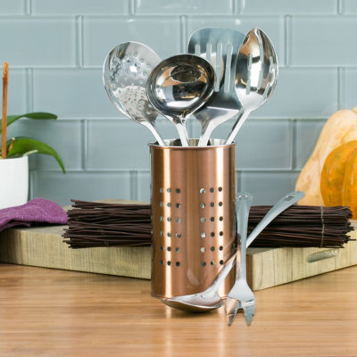 Basic Essentials Basic Essential Stainless Steel Colors 7-pc. Kitchen Utensil Set
