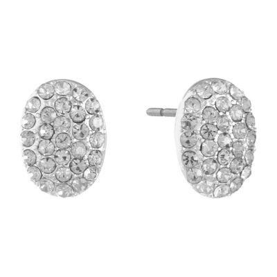 Monet Jewelry Clear 14mm Stud Earrings