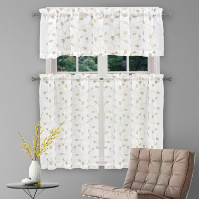 Duck River Kira 3-Piece Kitchen Curtain Set