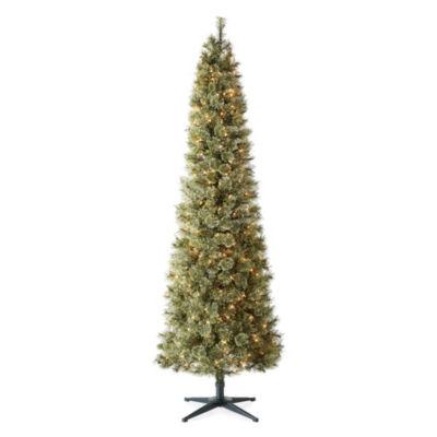 North Pole Trading Co. 7 Foot Cameron Cashmere Slim Pre-Lit Christmas Tree