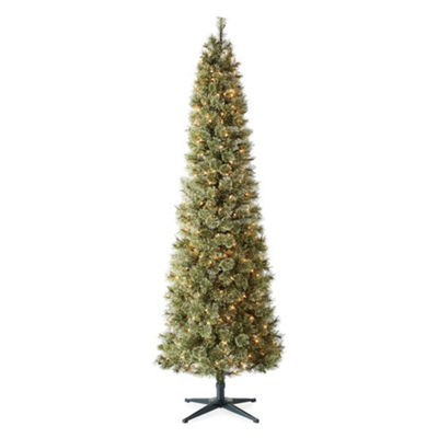 North Pole Trading Co. 7 Foot Cameron Cashmere Slim Pre-Lit Christmas Tree