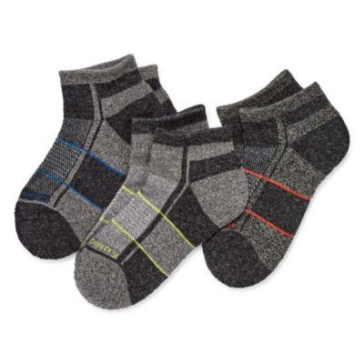 Free Country 3 Pair Quarter Socks