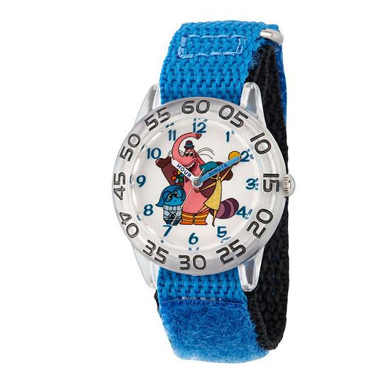 Disney Inside Out Boys Blue Strap Watch-Wds000603