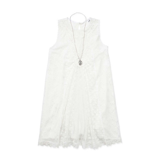 Knit Works Sleeveless Pattern A-Line Dress Girls