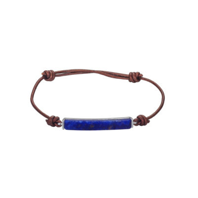 Footnotes Footnotes Footnotes Womens Blue Silver Over Brass Bolo Bracelet