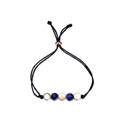 Footnotes Footnotes Footnotes Blue Rose Tone Pure Silver Over Brass Bolo Bracelet