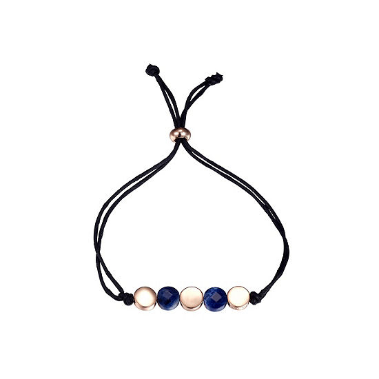 Footnotes Blue Rose Tone Pure Silver Over Brass Bolo Bracelet