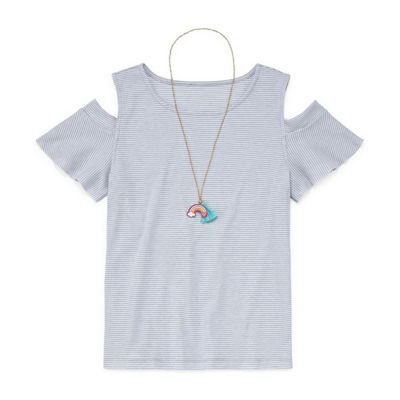 Arizona Cold Shoulder Top with Necklace - Girls' 4-16 & Plus